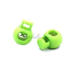 Arrêt de cordon 17x22mm, stop cordon, coloris vert fluo (lot de 2)