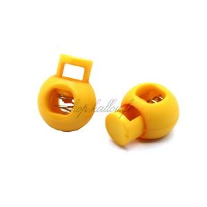 Arrêt de cordon 17x22mm, stop cordon, coloris jaune mangue (lot de 2)