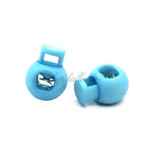 Arrêt de cordon 17x22mm, stop cordon, coloris bleu (lot de 2)