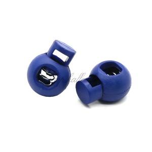Arrêt de cordon 17x22mm, stop cordon, coloris bleu marine (lot de 2)