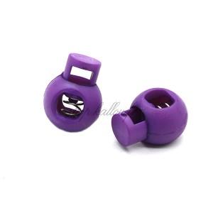 Arrêt de cordon 17x22mm, stop cordon, coloris violet (lot de 2)