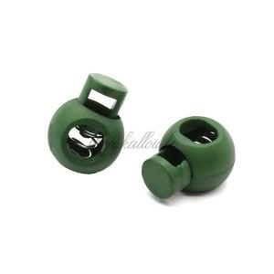 Arrêt de cordon 17x22mm, stop cordon, coloris vert bouteille (lot de 2)