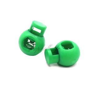 Arrêt de cordon 17x22mm, stop cordon, coloris vert (lot de 2)
