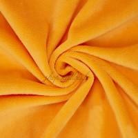 Tissu minkee orange, Shorty de la marque Kullaloo, coupon de 75x100cm