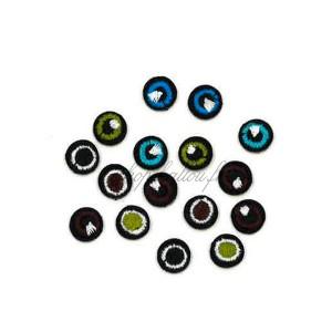 Ecusson thermocollant 8 paires de petits yeux de 1cm