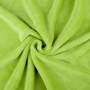 chute de 38 cm de Tissu doudou peluche, coloris vert anis