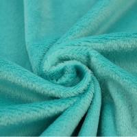 Tissu minkee bleu pétrole, Shorty de la marque Kullaloo, coupon de 75x100cm