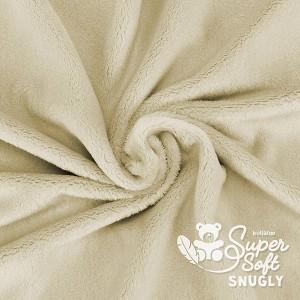 Tissu minkee beige, Snuggly de la marque Kullaloo, coupon de 75x100cm