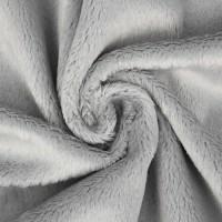 Tissu minkee gris, Snuggly de la marque Kullaloo, coupon de 75x100cm