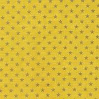 Batiste Banane Etoiles Argent, designer France Duval Stalla (x 50cm)