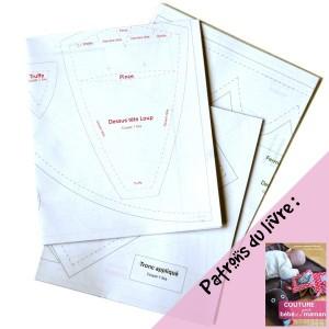 *Réservé* Patrons du livre Couture pour bébé et sa maman, 1ere édition