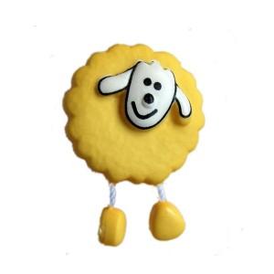 Bouton Mouton Jaune d'or