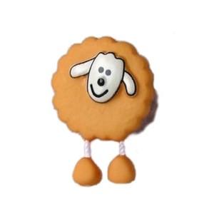 Bouton Mouton Jaune Moutarde
