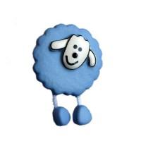 Bouton Mouton Bleu