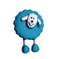 Bouton Mouton Bleu Canard