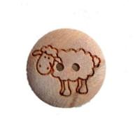 Bouton Mouton en Bois