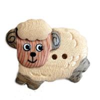 Bouton Mouton en Bois, Grand Modèle