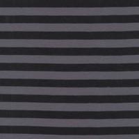 Tissu jersey Clown Stripes coloris noir et gris, designer Michael Miller