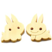 Bouton Lapin Debout en Bois