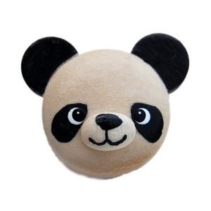 Bouton Panda, en Bois