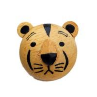 Bouton Tigre, en Bois