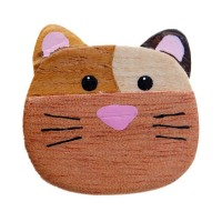 Bouton Chat Nez Rose, en Bois, grand format