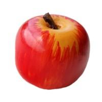 Bouton Pomme Rouge, en Bois