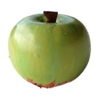 Bouton Pomme Verte, en Bois