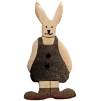 Bouton Lapin Robe, en Bois grand format