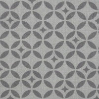 Tissu Mosaique Gris, coton enduit, grande largeur