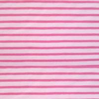 Tissu jersey Hilco Campan coloris dragée et fuschia, Oeko Tex (x 25 cm)