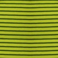 Tissu jersey Hilco Campan coloris anis et olive, Oeko Tex (x 25 cm)