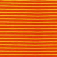 Tissu jersey Hilco Campan coloris Orange et Jaune d'or, Oeko Tex