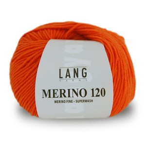 Laine Lang, Merino 120 Superwash Coloris Orange  ~120m/50g