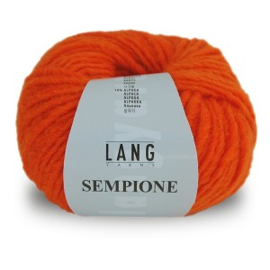 Laine Lang, Sempione Coloris Orange Citrouille  ~62m/50g