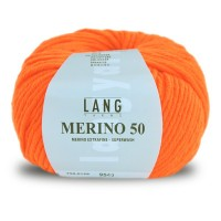 Laine Lang, Merino 50 Coloris Fluo Orange ~90m/100g
