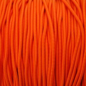 Élastique rond 3 mm Fluo orange