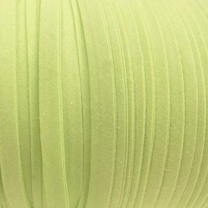 Biais vert anis, pré-plié 10mm